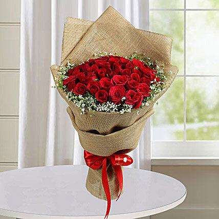 50 Red Roses Bunch: Valentine's Day Rose Delivery in UAE