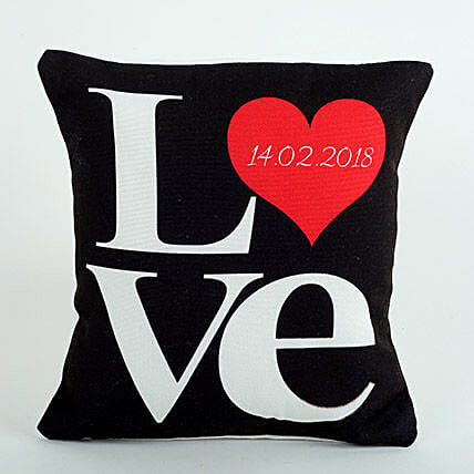 Black Love Cushion: Valentines Day Gifts For Husband in UAE
