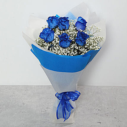 Bouquet Of Blue Roses: Send Anniversary Flowers to Ras Al Khaimah