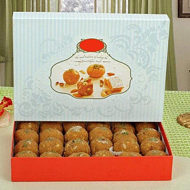 Box of Dry Fruits Besan Laddoo: Send Diwali Sweets to Sharjah