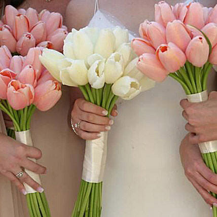 Bridesmaids Bouquet: Send Tulip Flowers to UAE