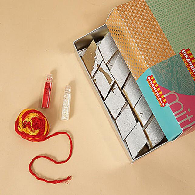 Kaju Katli With Roli and Chawal: Bhai Dooj Gifts Sharjah