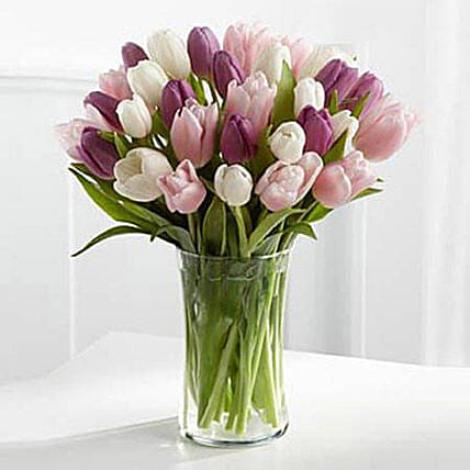 Painted Skies Tulip Bouquet: Birthday Flower Delivery in UAE