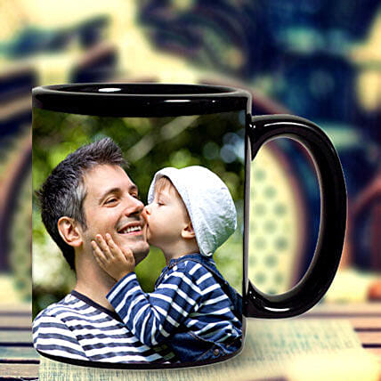 Personalized Black Mug: Send Birthday Gifts to Sharjah