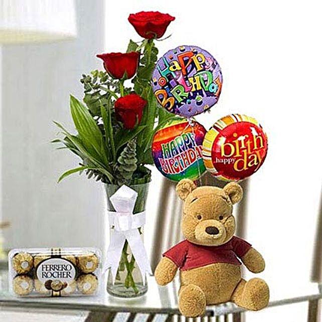 Stunning Delight: Flowers N Teddy Bears UAE