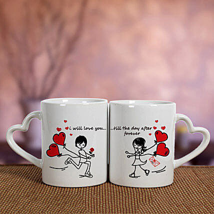 White Love Mugs: Send Promise Day Gifts to UAE