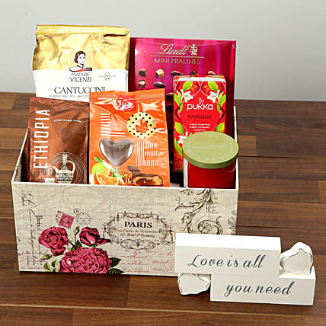 Valentine Special Chocolate and Coffee Hamper: Send Valentines Day to UAE