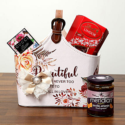 Chocolates With Designer Ladies Bag:
