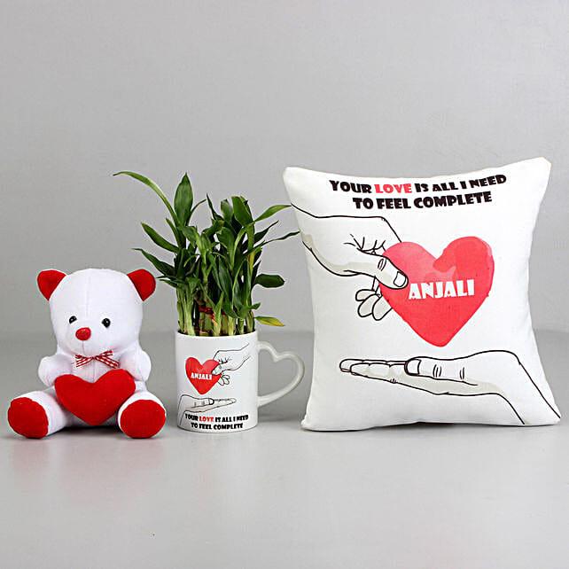 Love Is All I Need Personalised Cushion and Mug Combo: