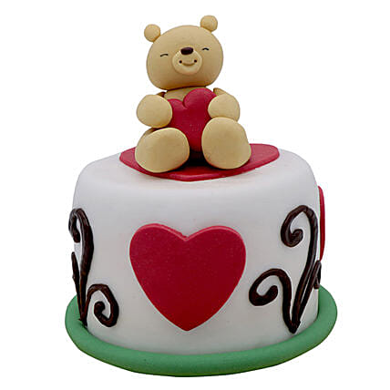 Teddy Cake For Valentines Day: Cake Delivery In UAE