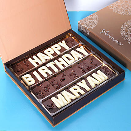 Customized Happy Birthday Chocolate: Birthday Gifts Sharjah