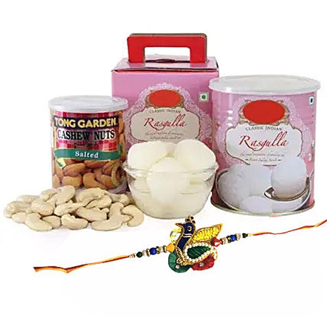 Rakhi Spongy Sweet: Rakhi With Sweets to UAE