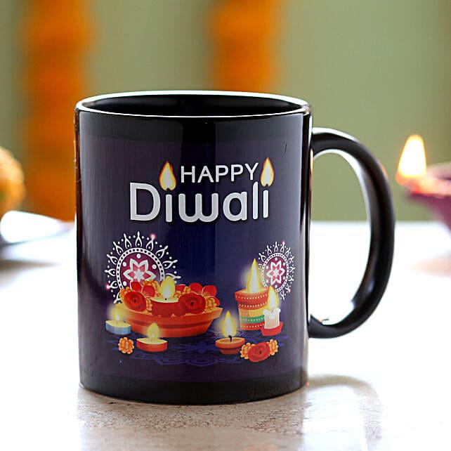 Diwali Wishes Black Mug: Diwali Gifts to Sharjah