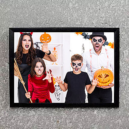 Mysterious Black Photo Frame: Send Halloween Gifts to UAE