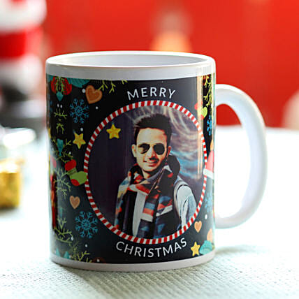 Personalised Jolly Christmas Greetings Mug: Send Christmas Gifts to UAE