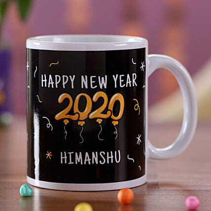 Personalised New Year Name Mug For Him: Order Gifts for Boys in UAE