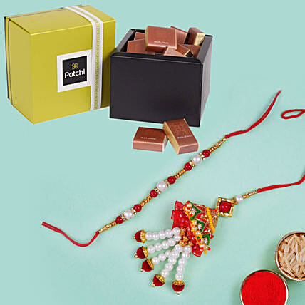 Lumba Set and Patchi Chocolates: Send Rakhi to Dubai