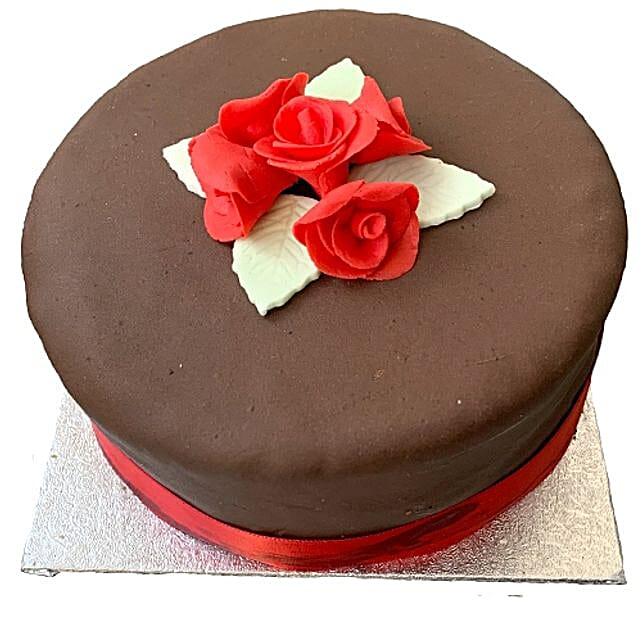 Chocolate Rose Cake Birthday Cakes To UK