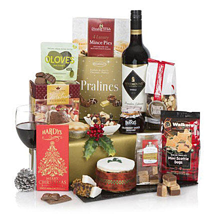 Christmas Cracker Hamper: Send Wine Baskets to UK