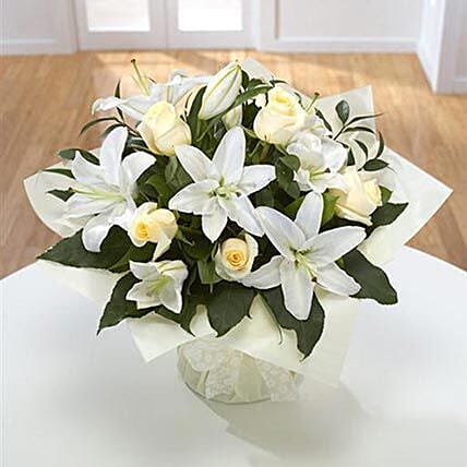 Diamond Birthstone Bouquet: Sympathy N Funeral Flowers UK