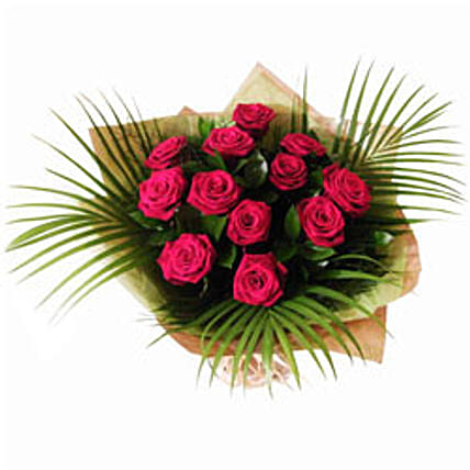 Dozen Red Roses: Easter Flowers to UK