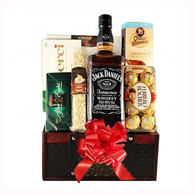 Jack Daniels Gift Basket: Send Anniversary Chocolate Basket to UK