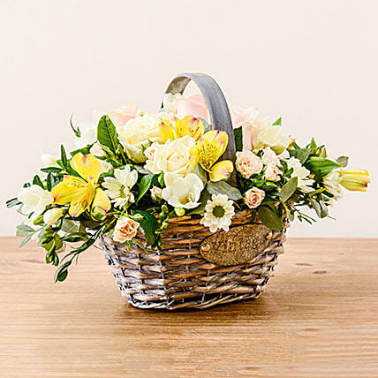Luxurious Basket: Sympathy N Funeral Flowers UK