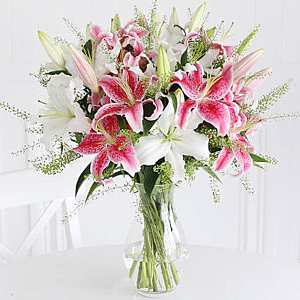 Mixed Lilies: Send Easter Flowers to UK