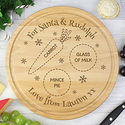 Christmas Special Personalized Chopping Board: Personalised Gifts for Him UK