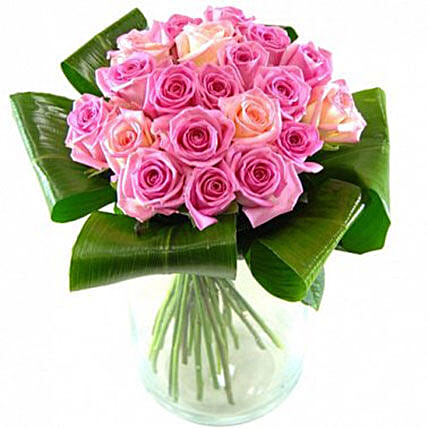 Graceful Bouquet Of Pink Roses: Send Rose Day Gifts to UK