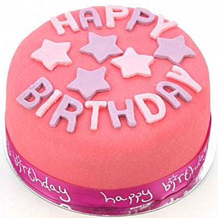 Happy Birthday Pink Cake: Cake Delivery in Liverpool