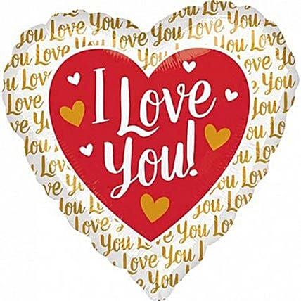 Heartshaped I Love You Balloon: Birthday Gifts for Wife UK