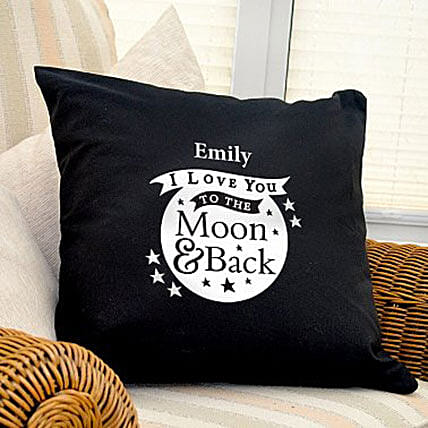 Personalized Love Dovey Cushion Coverblack: Send Gifts to Cambridge