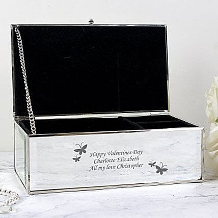 Personalized Mirrored Jewelry Box: Gift Discount for UK