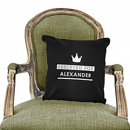Personalized Reserved For Black Cushion Cover: Birthday Cushion to UAE