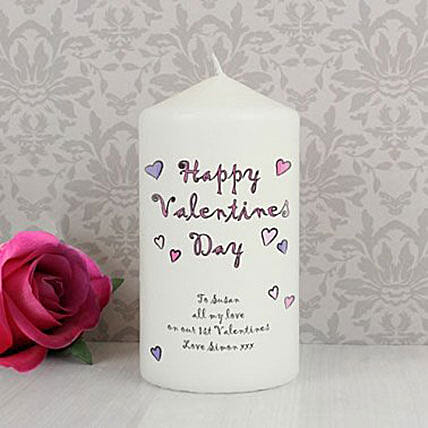 Personalized Happy Valentine'S Day Candle: