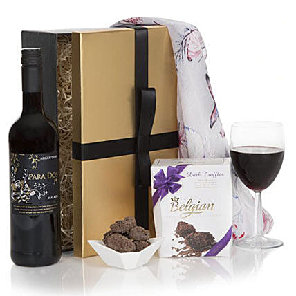 Ladies Indulgence Red Gift Set: Send Gifts to Manchester, UK