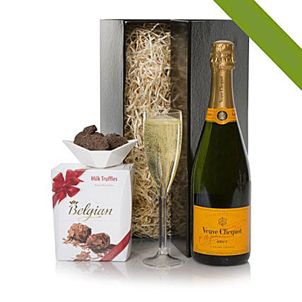 Veuve Clicquot Champagne And Truffles Gift Set: Send Wine Baskets to UK