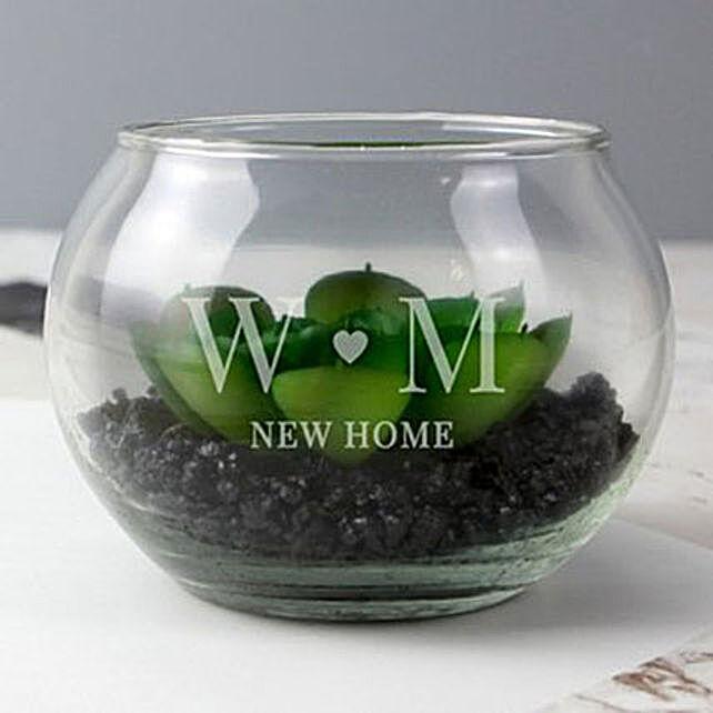 Personalised Initials Glass Terrarium: