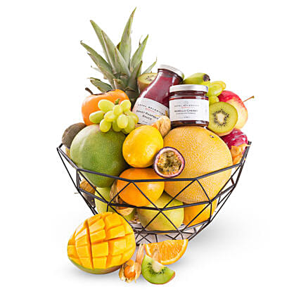 Fruit Dessert Gift Basket: Gift Baskets to UK