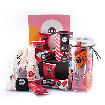 Baru Colorful Gift Box With Marshmallow Jar: Gift Baskets to UK