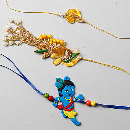 Vibrant And Festive Rakhi Set For Family: Send Rakhi to Manchester UK