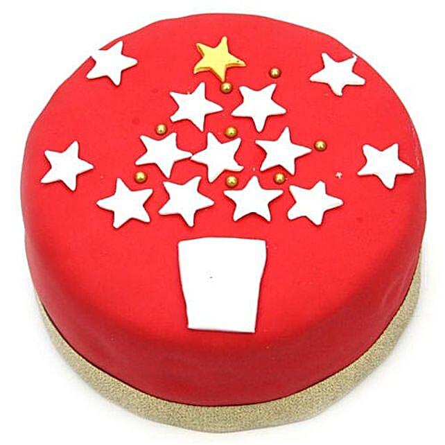 Red And White Christmas Cake: Send Christmas Gifts to UK