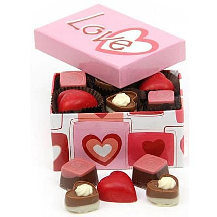 Multi Heart Chocolate Box: Valentine's Day Gift Delivery in UK