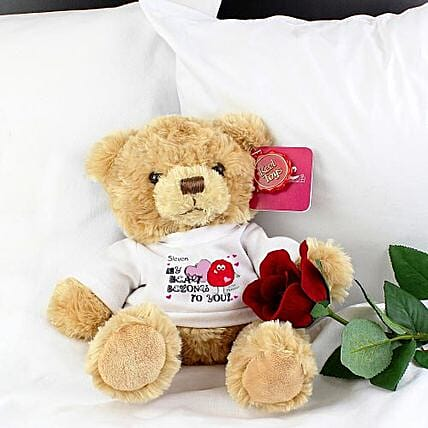 Personalised Heart Message Bear: Personalised Gifts to UK