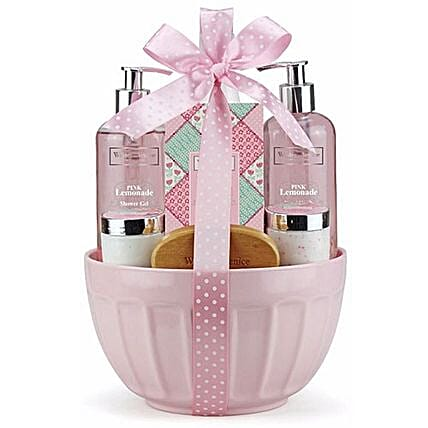 Melamine Bowl Of Luxurious Toiletries: Anniversay Cosmetics and Spa Hampers in UK