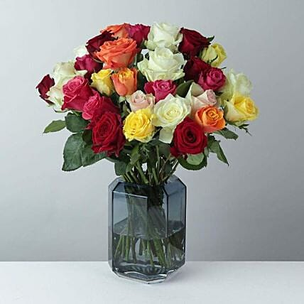 Mixed Roses Delight Bunch: Send Flowers to UK