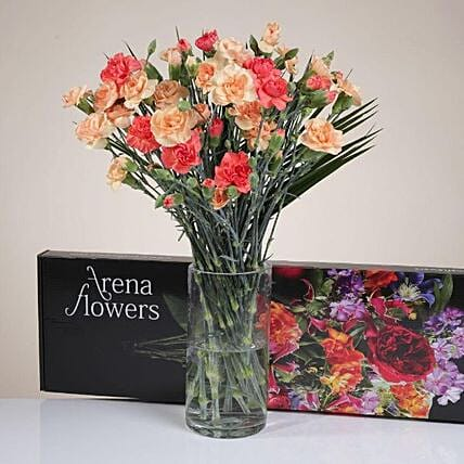The Cheerful Carnation Bunch: Gifts for Anniversary in UK