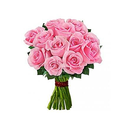 12 Pink Roses: Send Daughters Day Gifts to USA