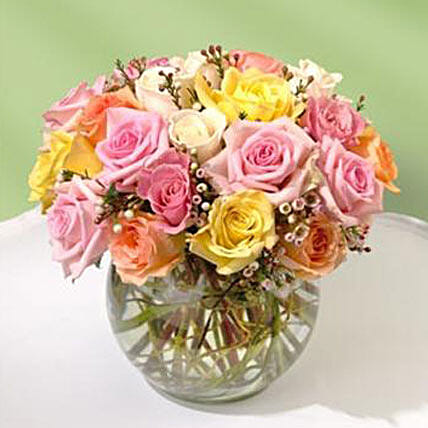 Beautiful Bowl of Roses: Friendship Day Flowers to USA